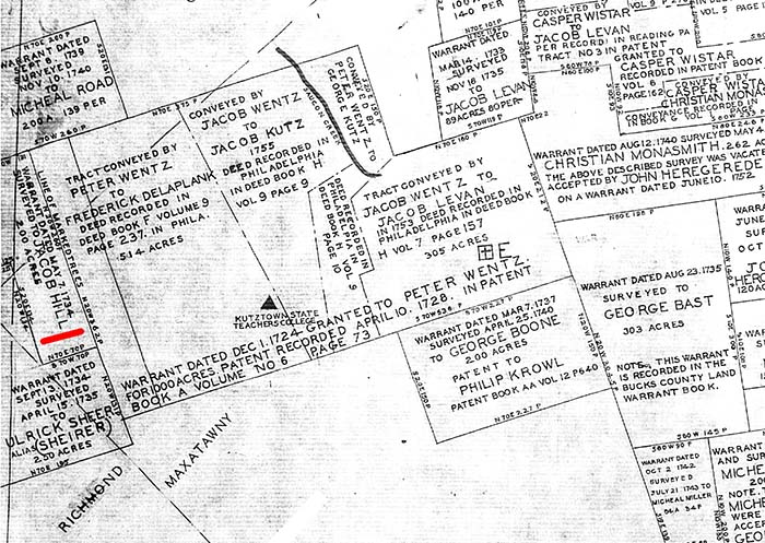Map of the Jacob Hill Farm